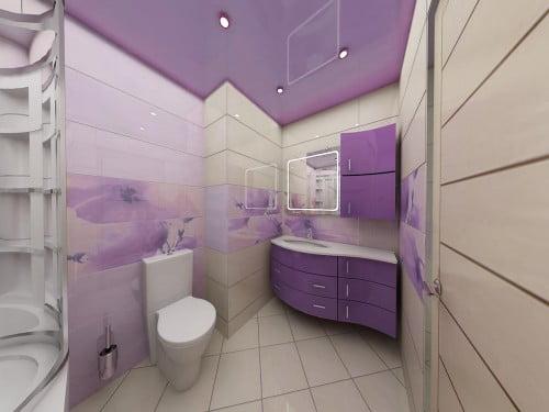 Ванная комната и туалет дизайн модная
