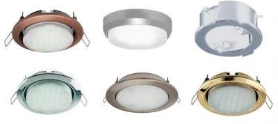 Точечные светильники для натяжных потолков светодиодные