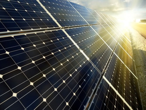Фото: Каскад солнечных батарей