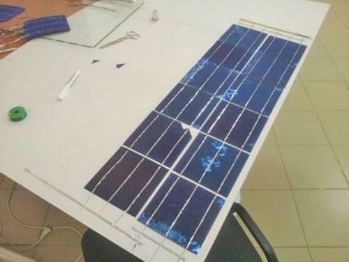 Фото: Соединяем элементы солнечной батареи