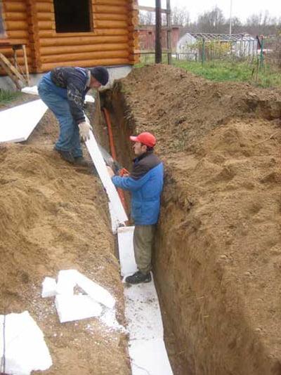 Утепление канализация в частном доме своими руками