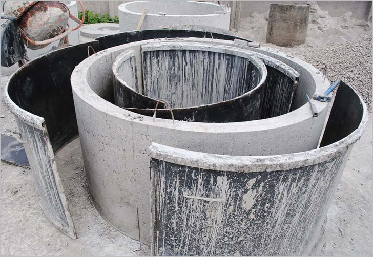 Монолитный колодец залить бетоном