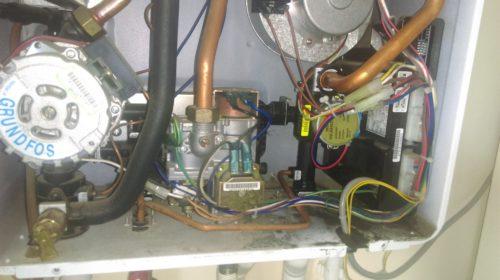 Фото: нарушение работы механизма газового котла