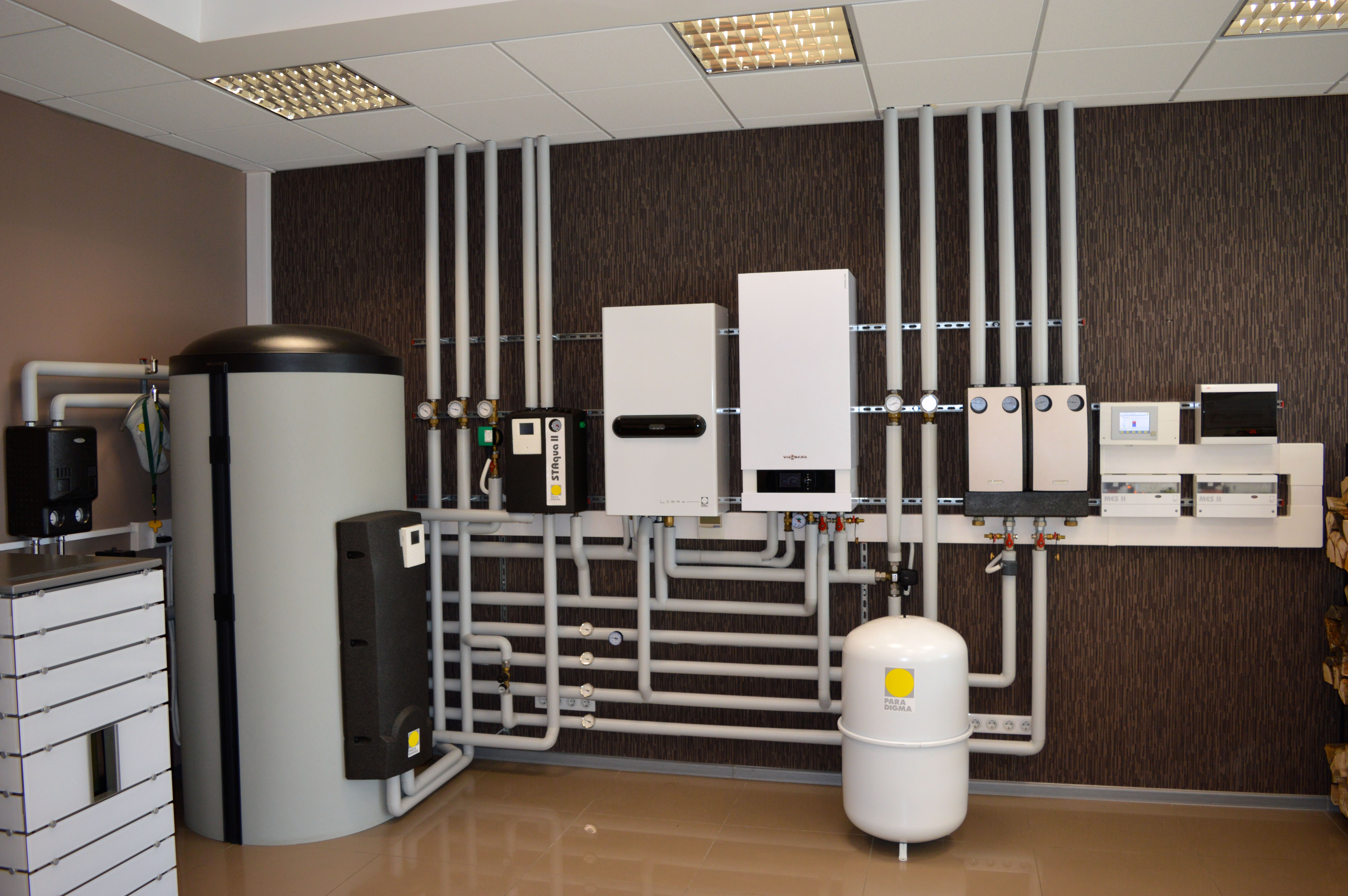 коллекторная схема отопления напольного котла