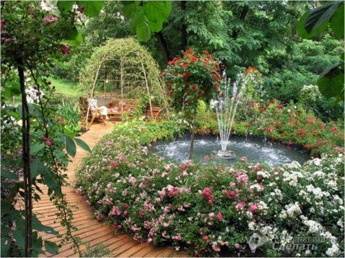 Фото: Фонтан – дополнение и украшение любого сада