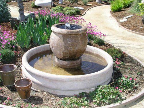 Фото: Мини фонтан своими руками из цветочного горшка