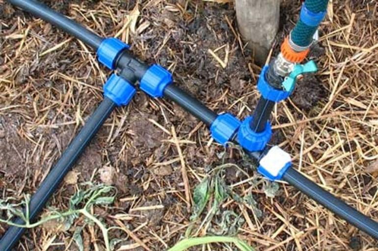 Дачный водопровод из пнд труб своими руками