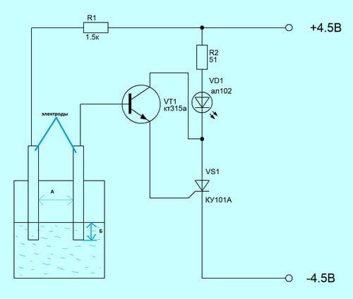 Схемы и радиоэлектроника: индикатор, уровня, вОДЫ, Измерители - читайте