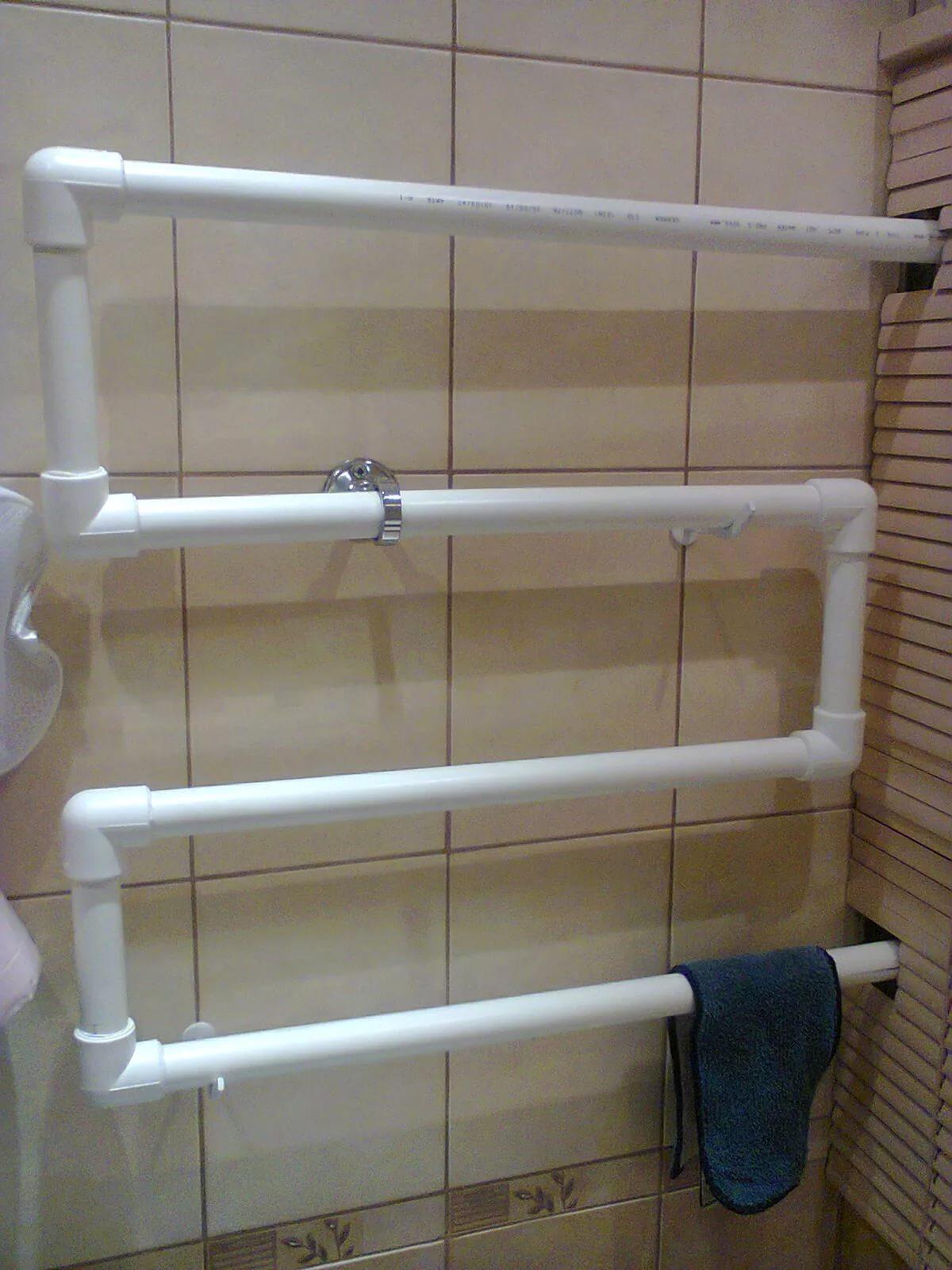 Сделать полотенцесушитель из полипропилена своими руками