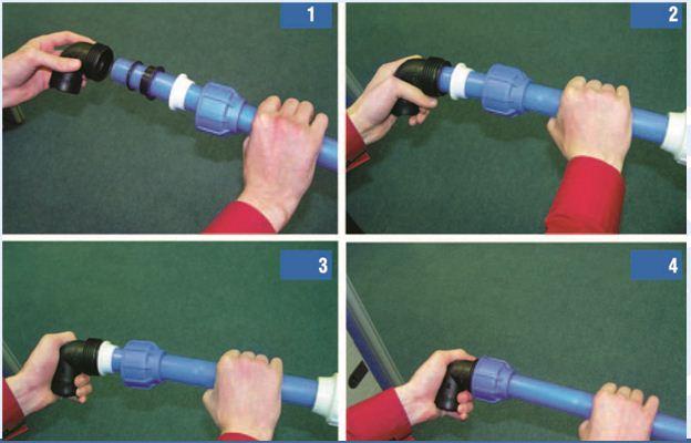Соединение пнд труб